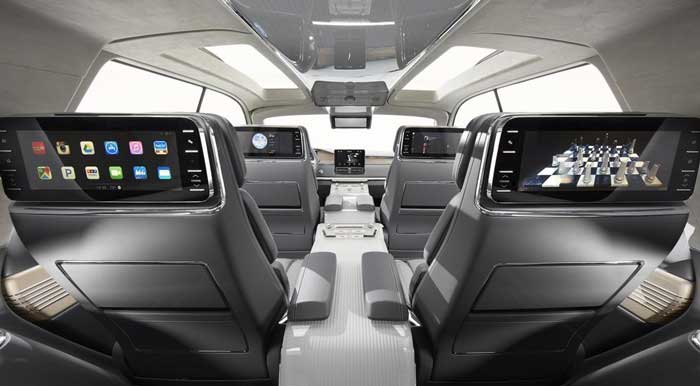 Interior of Lincoln Navigator 2017