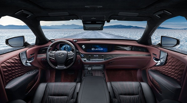 Interior of 2018 Lexus LS 500h F Sport