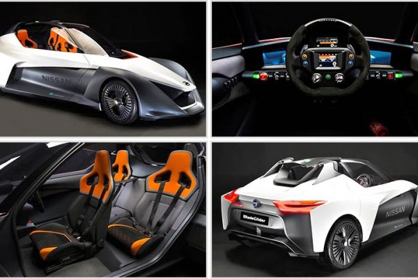 Electric Car Concept - Nissan BladeGlider Concept with Superior Performance