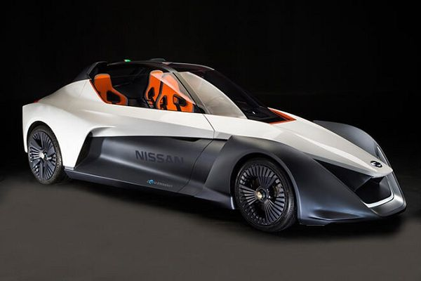 Exterior of the Nissan BladeGlider Electric Car Concept