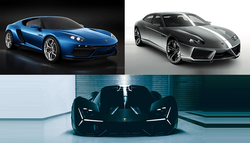 Top 3 Concept Cars with Advanced Technologies by Lamborghini