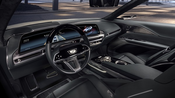 Interior of the Cadillac Lyriq