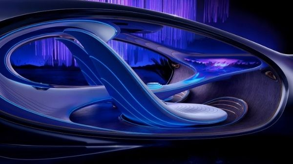 Interior of the Mercedes-Benz Vision AVTR