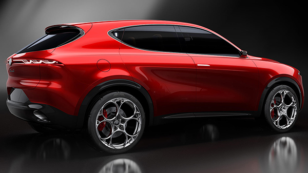Exterior of the Alfa Romeo Tonale Concept